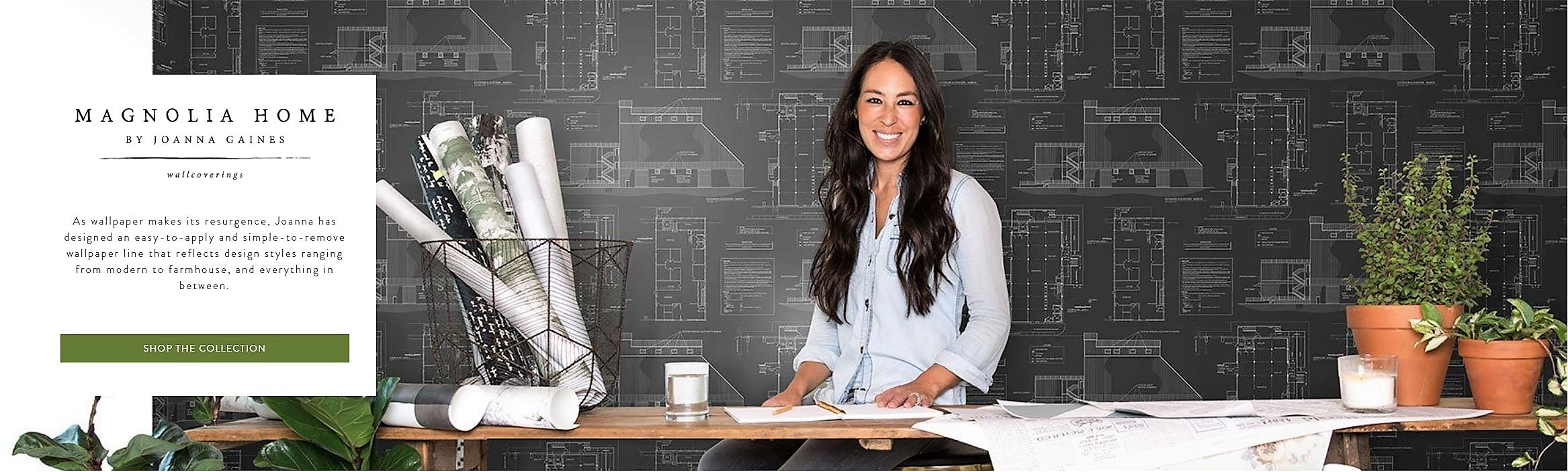 Joanna Gaines Creates Magnolia Home Wallpaper Collection For Simplified Decorating The Savvy Decorator
